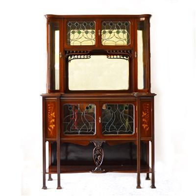 Lot 515-An Art Nouveau  mahogany display cabinet, circa 1910