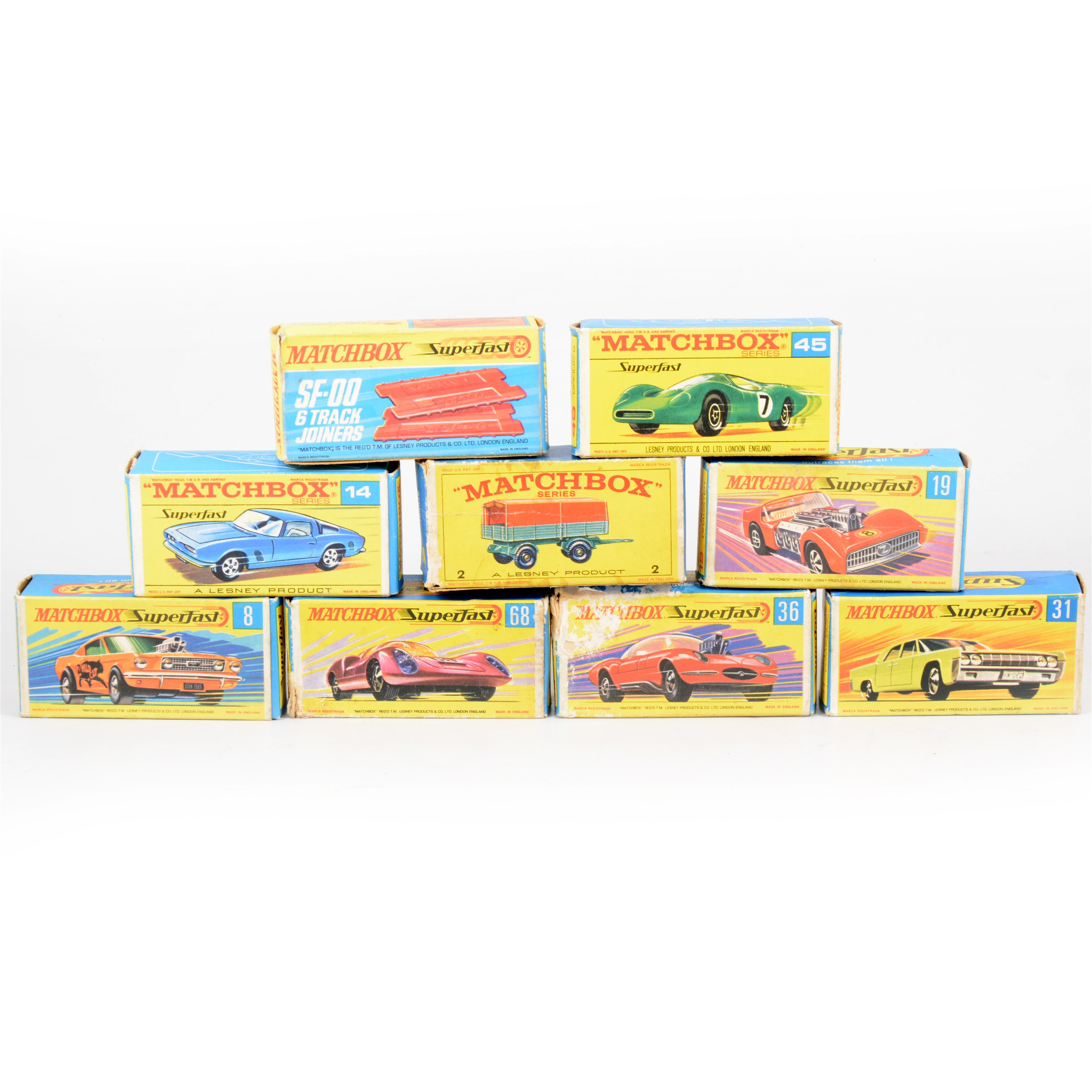 Matchbox 6 Superfast tracks and 5 Joiners free UK Post