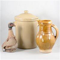 Lot 87-Stoneware flagons, jars, etc.