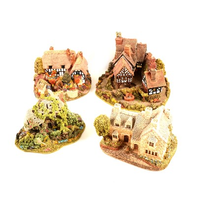 Lot 31-Fifty-four Lilliput Lane Cottages - sixteen boxed.