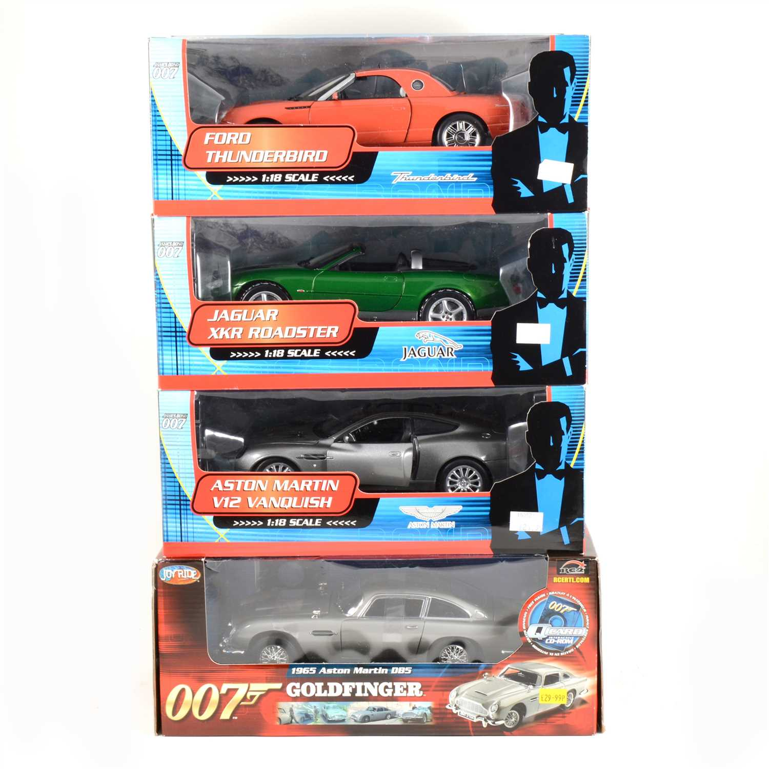 Lot 247 Four 1 18 Scale 007 James Bond Model Cars By