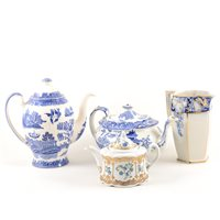 Lot 19-Large collection of Staffordshire transferware, ...