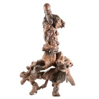 Lot 171-Chinese carved root figure of an Immortal