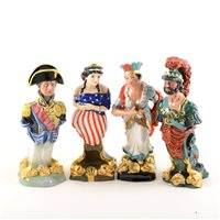 Lot 22-Collection of six Royal Doulton Ships figure heads, Chieftain HN29292, Nelson HN2928, Pocahontas HN2930, Lalla Rookh HN2910, Ajax HN2908 and Benmore HN2909, (with boxes), (6).