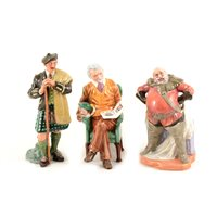 Lot 3-Five Royal Doulton figures, including The Laird HN2361, Pride and Joy and Falstaff, together with two seconds, (5).