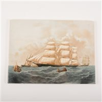 Lot 23-Pair of Wedgwood and Barlaston plaques, of Maritime interest, Hurricane and Dreadnought, 18cm x 26cm.