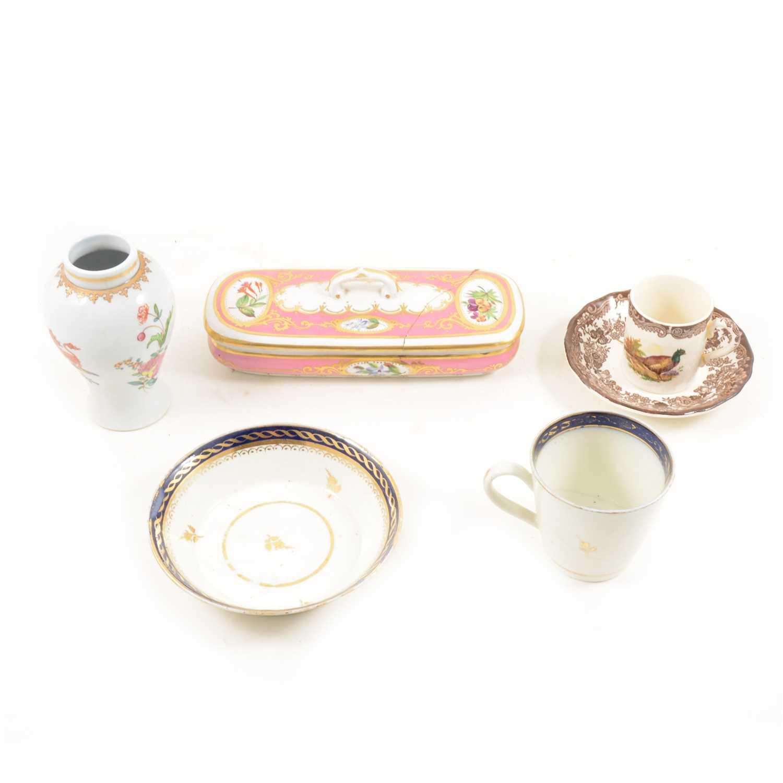 Lot 78-Samson 'Chinese Armorial' vase shape tea caddy, 13cm; ...