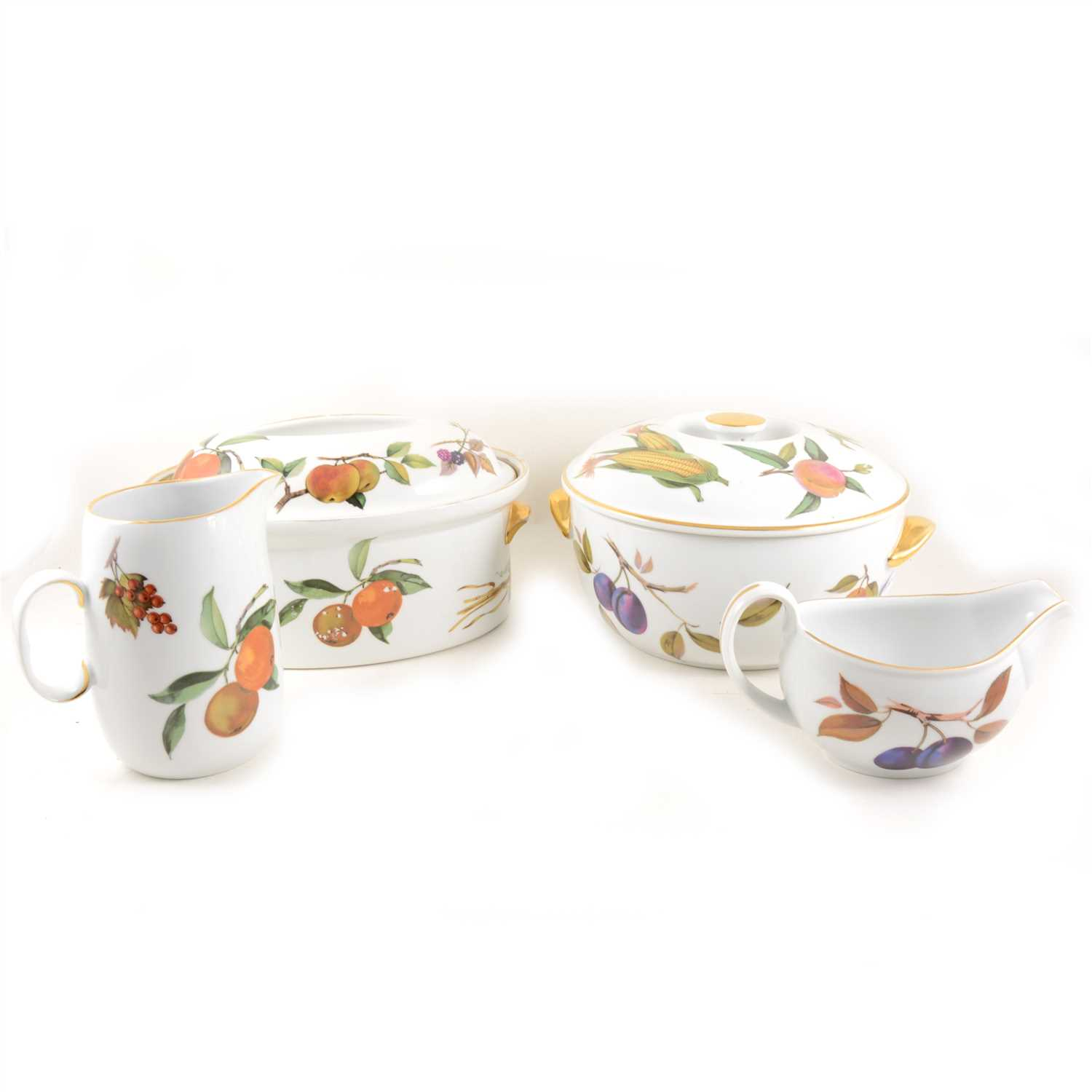 Lot 92-Collection of Royal Worcester Evesham pattern tableware; ...