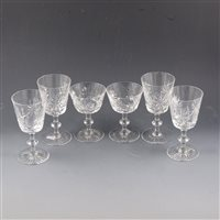 Lot 48-Six Edinburgh crystal wine glasses, ...