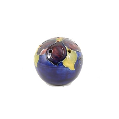 Lot 22-A Moorcroft pomander made for Liberty 1981.