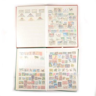 Lot 127-Stamps: Schoolgirl album of world stamps, ...