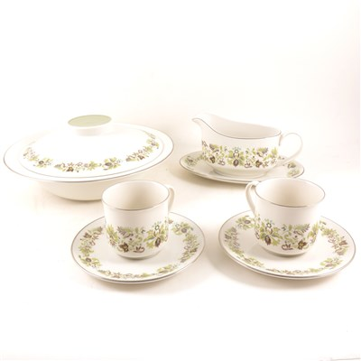 "Lot 68-A Royal Doulton English Translucent China dinner service, ""Vanity Fair"" design"