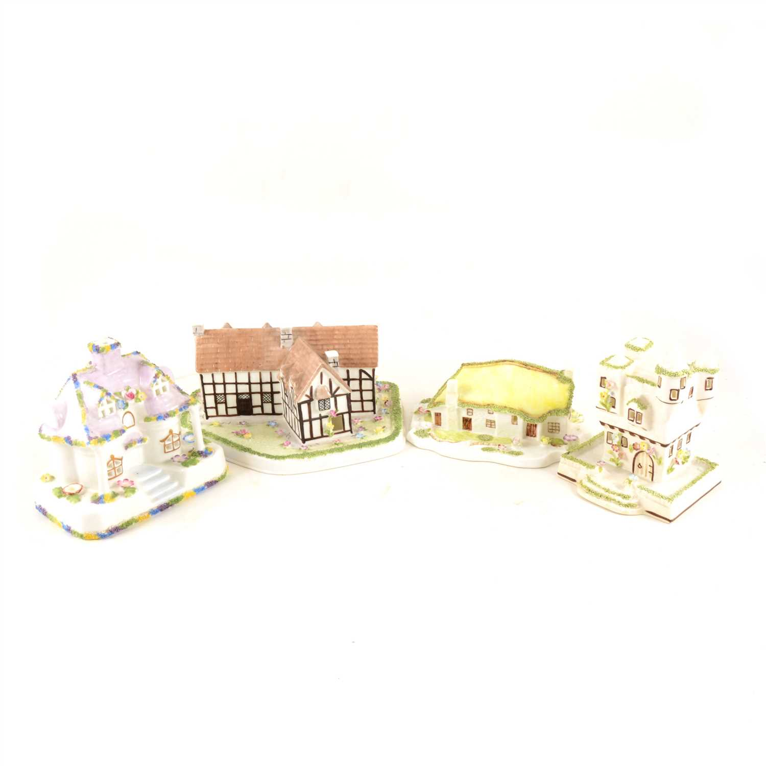 Lot 38-A collection of Coalport cottages, to include Watchdog Corner, with limited edition certificate, 231/500, Summer House, with limited edition certificate, 121/500, Shakespeare's Birthplace