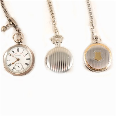Lot 218-Victorian silver pocket watch and two modern pocket watches