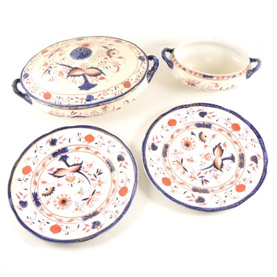 Lot 86-Grimwades earthenware dinner service, Carro pattern, in Imari colours, ...