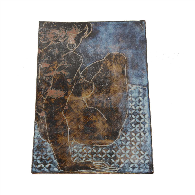 Lot 46-Anthony O'Brien, Trish, Studio stoneware plaque