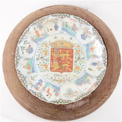 Lot 49-Chinese Export porcelain armorial dish, early 18th Century
