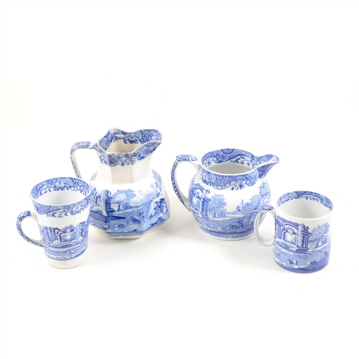 "Lot 91-A quantity of Spode blue and white transfer printed ware in the ""Italian"" design."