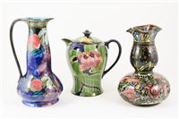 Lot 11-Three English Art Pottery vessels in the Art Nouveau style