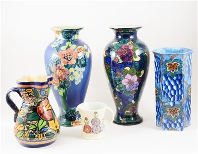 Lot 12-Five English Art Pottery vessels, early 20th century