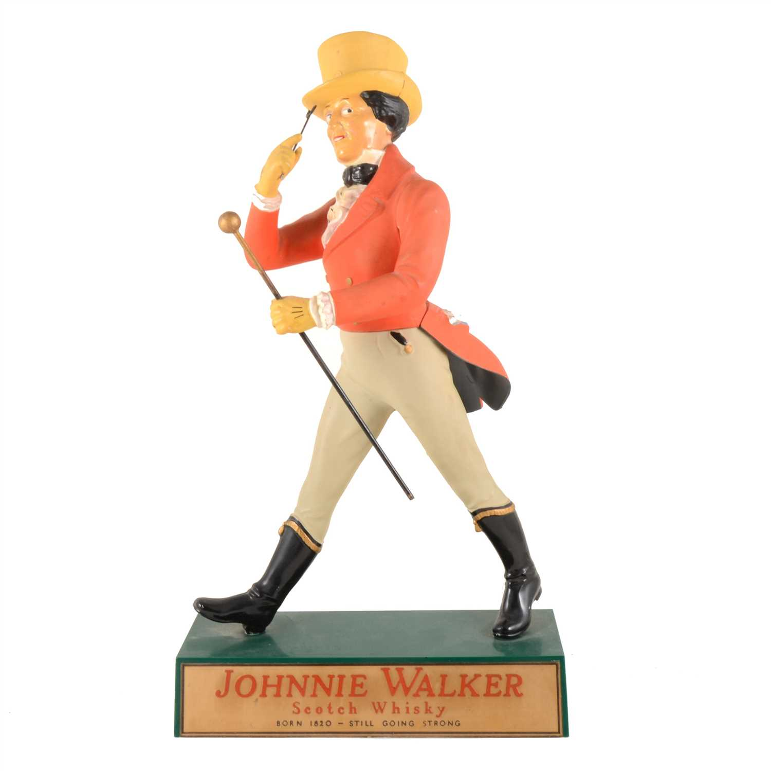 Lot 160-Bar-top advertising model, 'JOHNNY WALKER Scotch Whisky', 43cm.