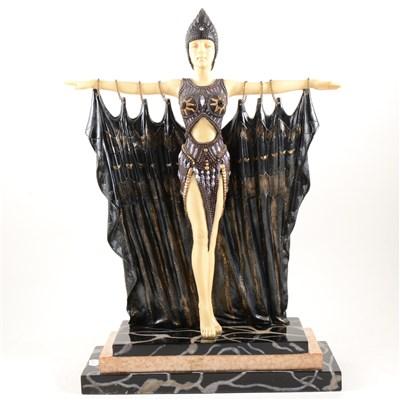 Lot 170-Reproduction Art Deco style figure, ...