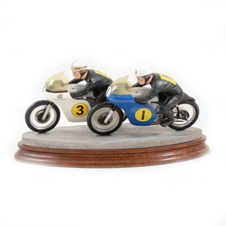 Lot 136-Border Fine Arts model, Wheel to Wheel, ...