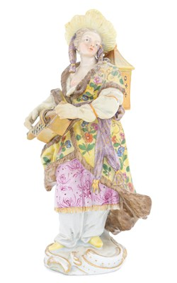 Lot 43-A Meissen porcelain figure of a Malabar musician