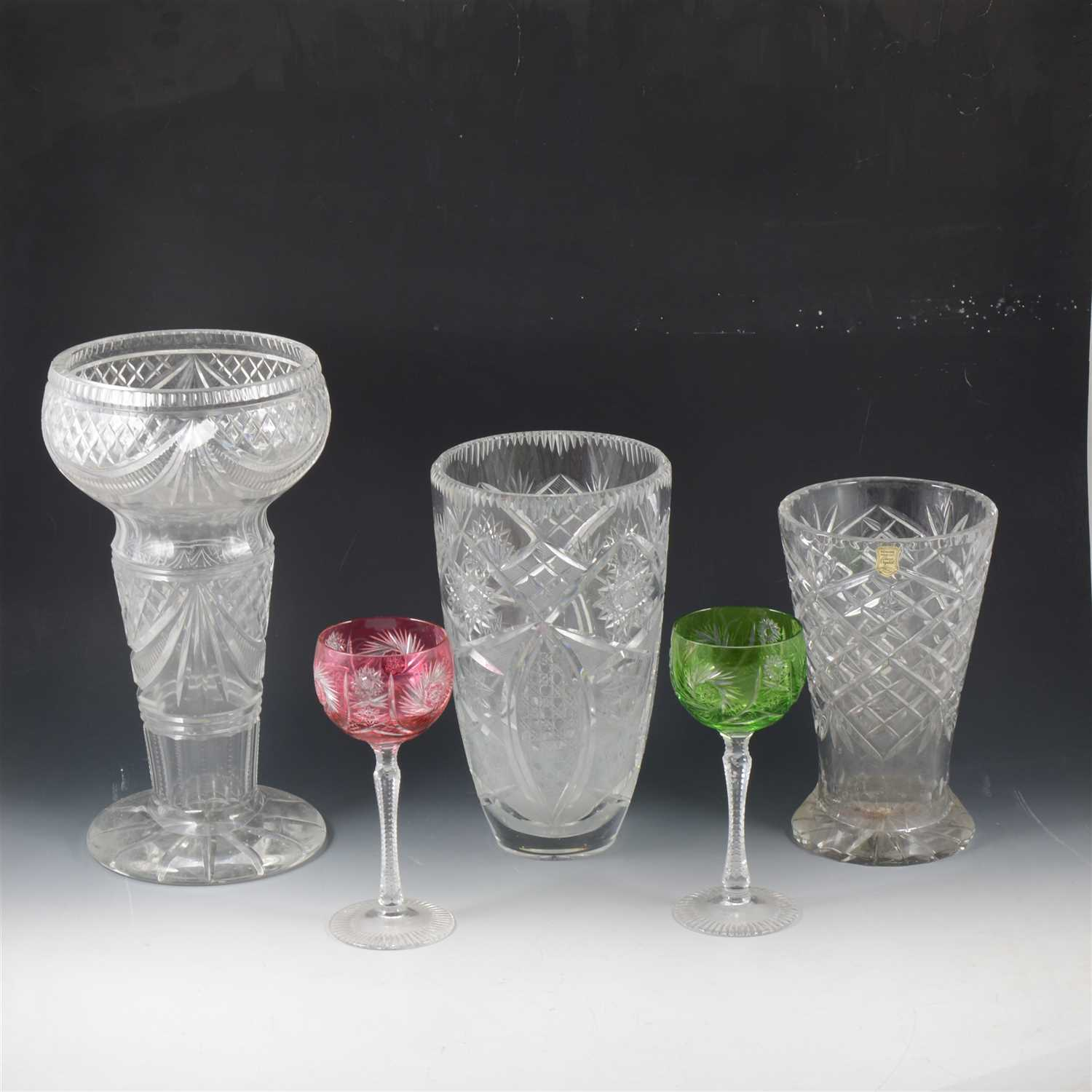 Lot 63 - Edinburgh crystal decanter, 31cm; and other glassware.