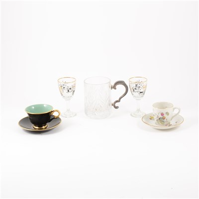 Lot 50-Royal Worcester coffee set, and other china and glass