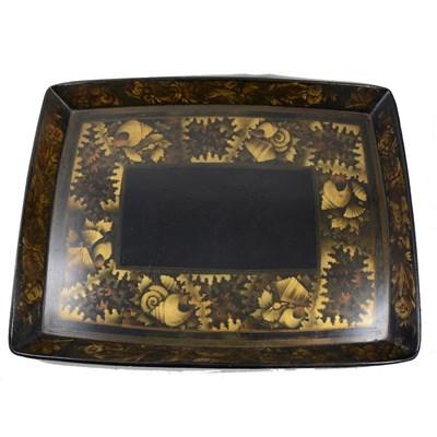 Lot 187-Regency papier mache  rectangular tray