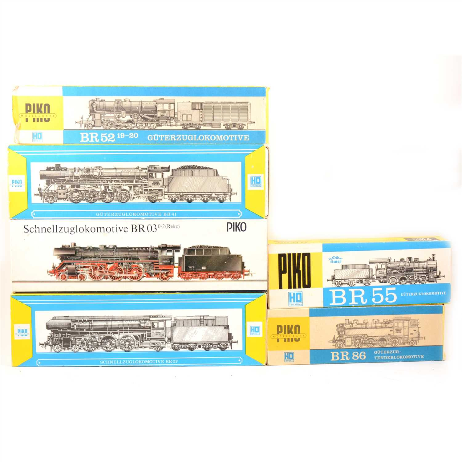 Lot 27-Six HO gauge model railway locomotives, all boxed.