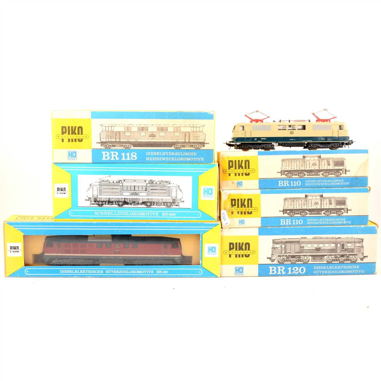 Lot 26-Seven HO gauge model railway diesel locomotives by Peko and Lima