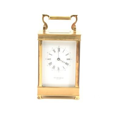 Lot 174-Modern brass carriage clock, Taylor & Bligh, England, ...