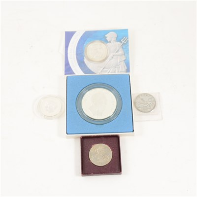 Lot 146-A collection of silver and nickel coins