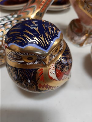 Lot 3-Four Royal Crown Derby paperweights