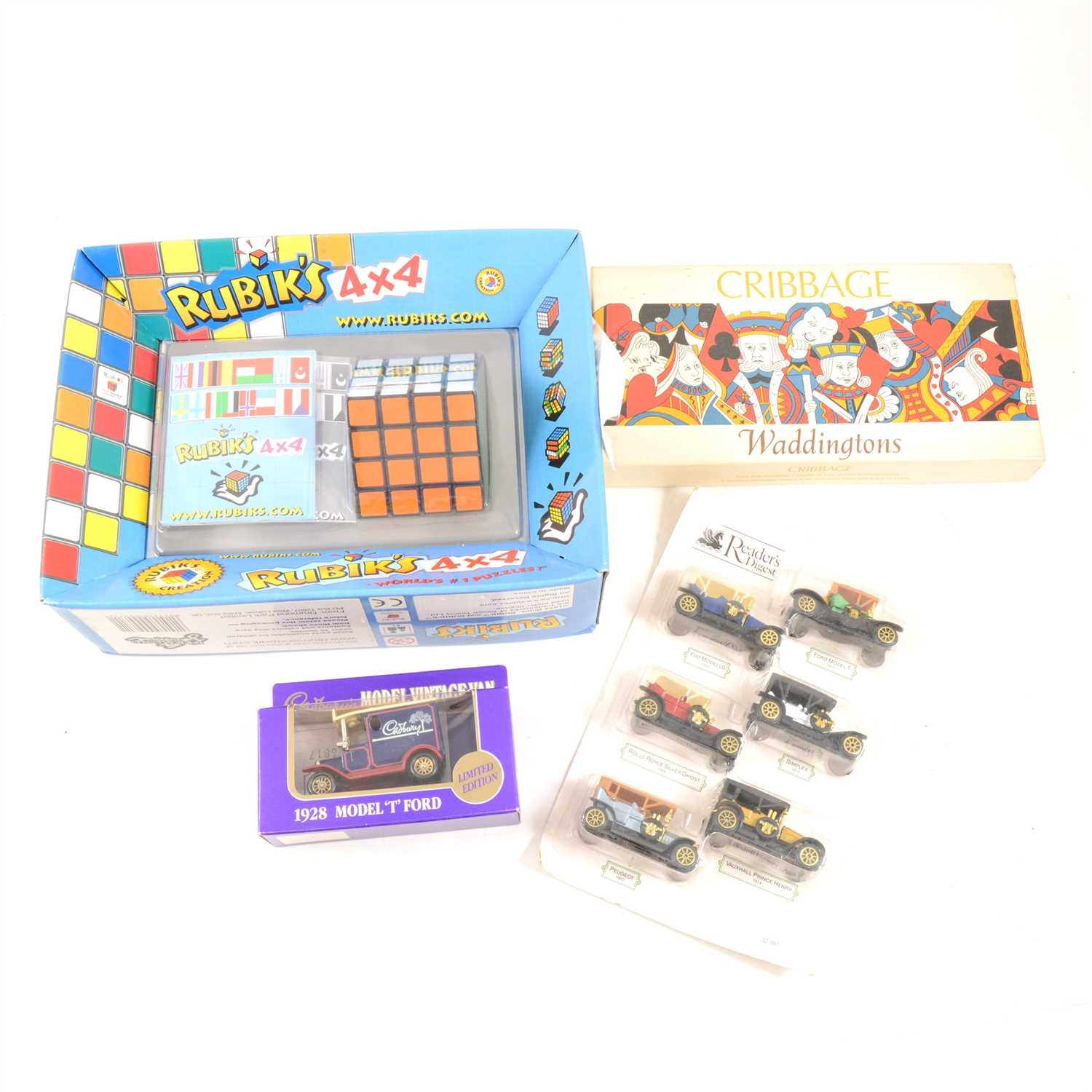 Lot 144-Large quantity of vintage toys and games, including board games, cars games and others, four boxes.