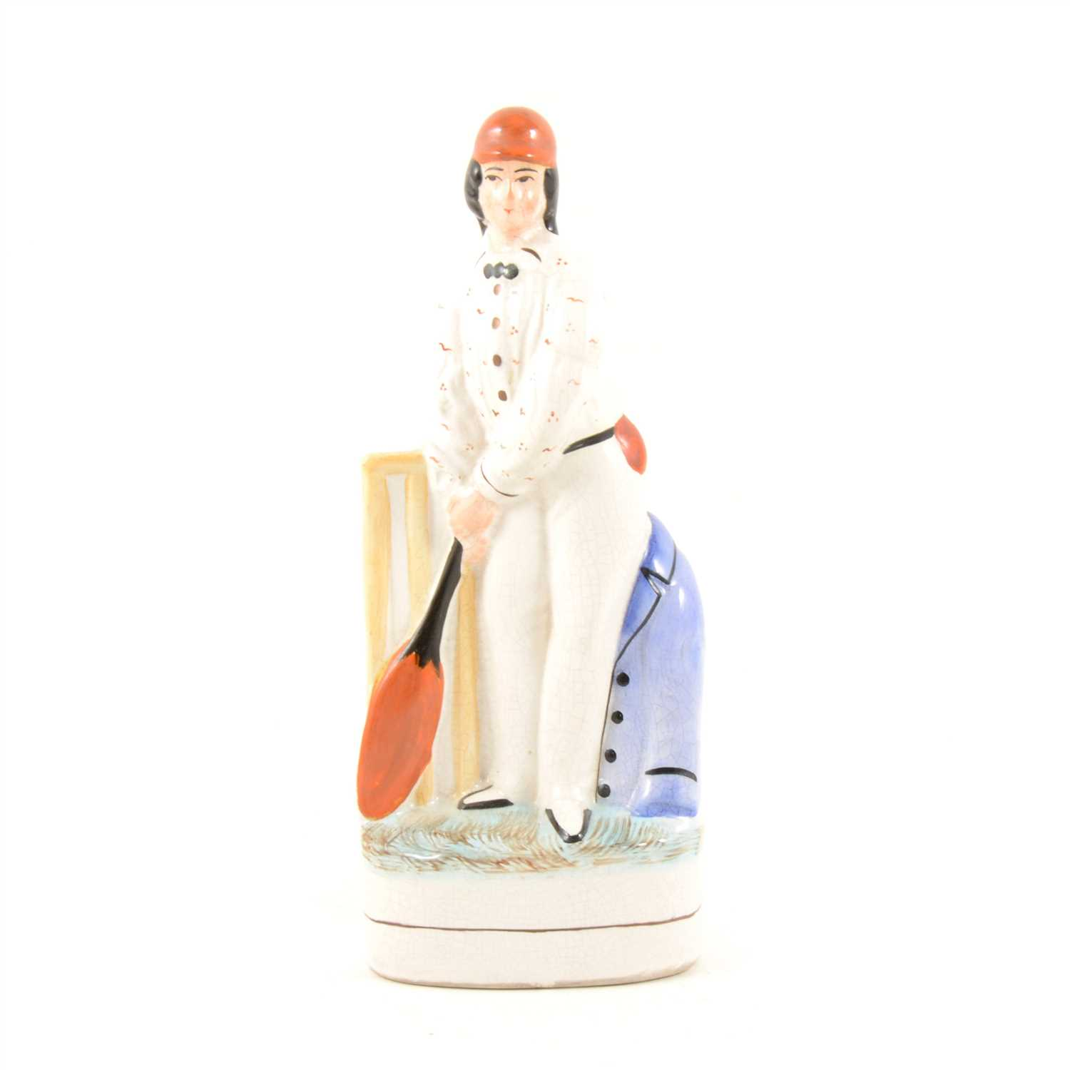 Lot 68-Staffordshire figure, Duke of Wellington; and a cricketer, George Parr