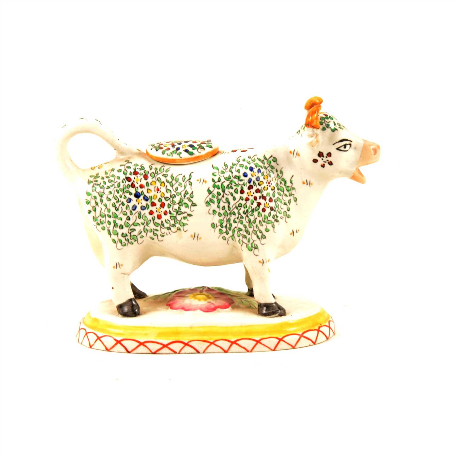 Lot 37-Staffordshire cow creamer, early 20th Century, ...