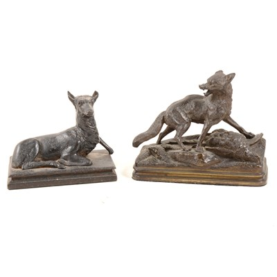 Lot 175-After Alfred Dubacand, Raynard The Fox, bronze animalia, ...