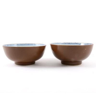 Lot 51-Pair of Nanking Cargo bowls, Qianlong