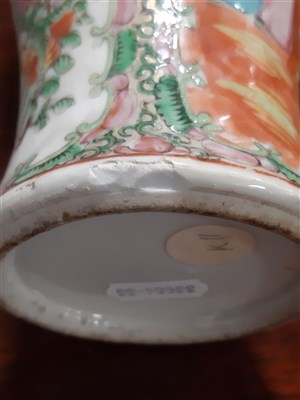 Lot 37-A collection of Cantonese porcelain