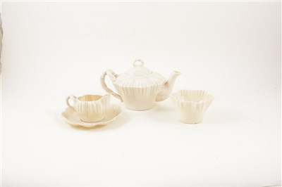 Lot 79-Belleek opalescent china part teaset, ...