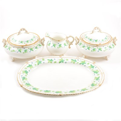 Lot 34-A collection of Royal Crown Derby bone china dinnerware, Vine pattern.