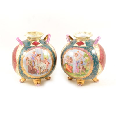 Lot 99-Pair of Viennese style neo spherical vases, ...