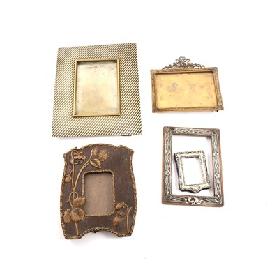 Lot 60-An Australian plated photo frame; a circular silver photo frame, and other frames.