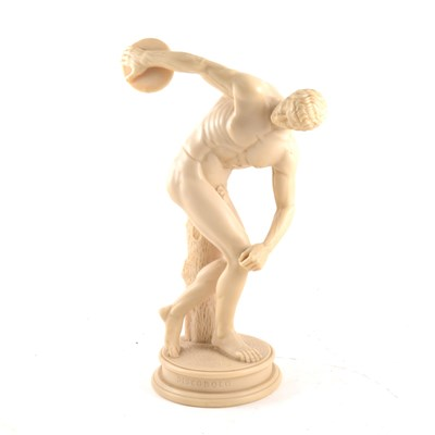 Lot 64-A composition figure of an athlete 'Discobol', height 40cm.
