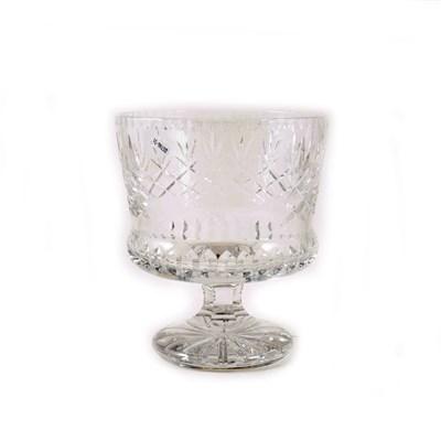 Lot 8-A presentation glass rose bowl, engraved English Golf Union.