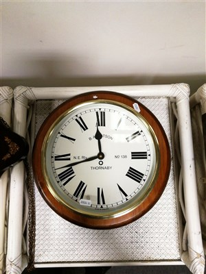 Lot 192-Reproduction Dutch style wall clock, ...