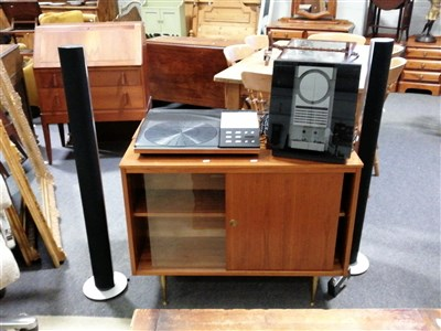 Lot 61A-Bang & Olufsen home audio; including Beogram 8002 record plater, speakers and CD player